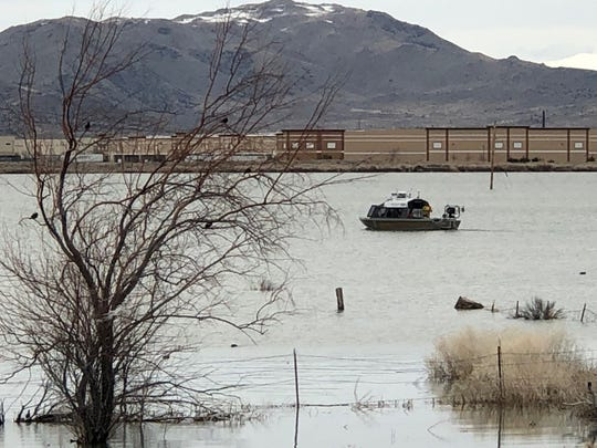 Washoe County Sheriff's Office's Marine 20 is seen on Silver Lake. Volunteers for the agency's Search and Rescue team found the remains of a male teenager at the lake on April 13, 2019. Authorities did not confirm if the remains belonged to a teenager who was reported missing near Silver Lake in March.