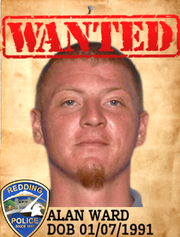 Alan Brian Ward Date of birth: Jan. 7, 1991 Vitals: 6 feet, 2 inches; 160 lbs.; red hair/hazel eyes Charge: Reckless arson