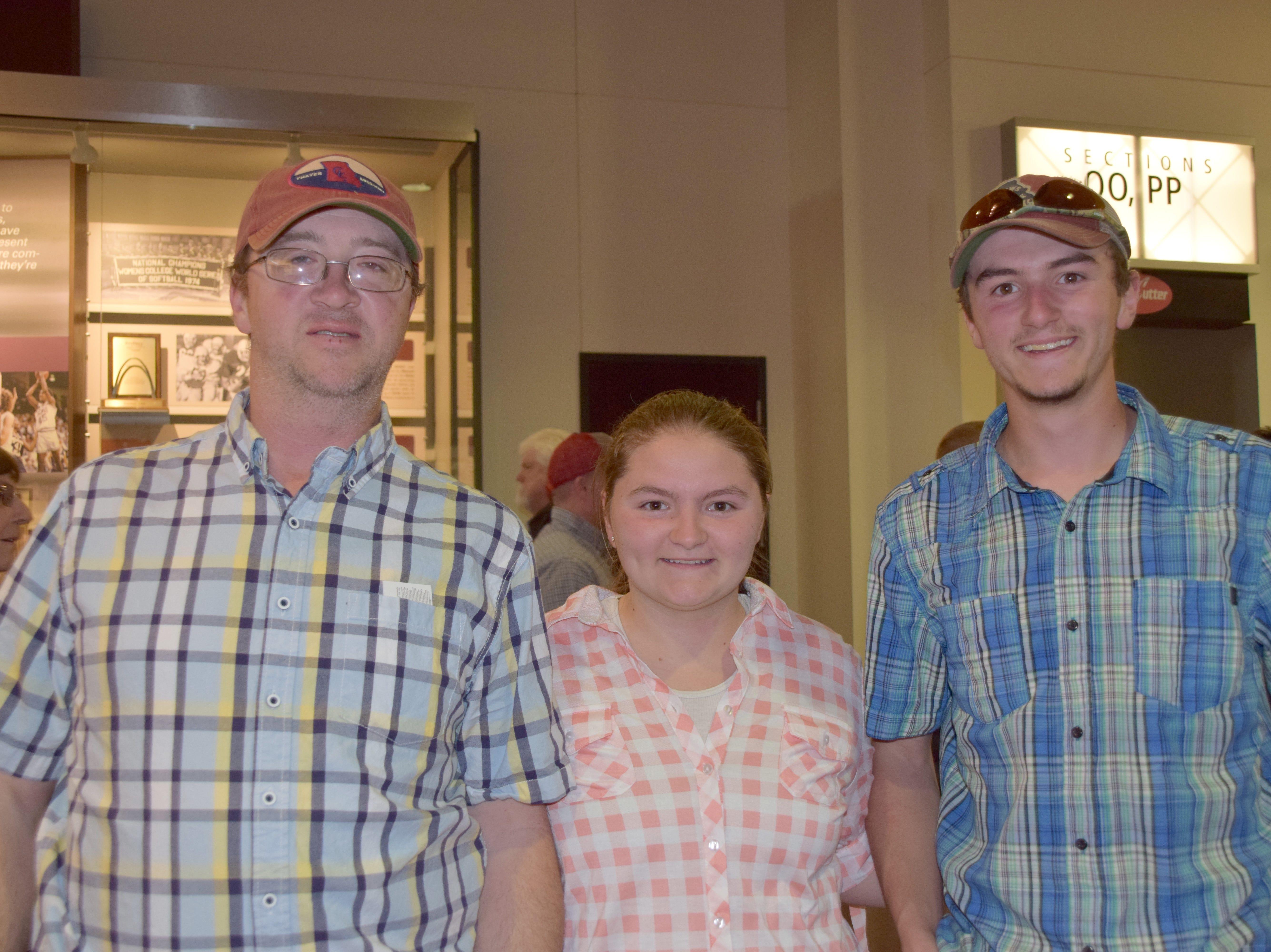 Kent, Ashley and Grant Kelley