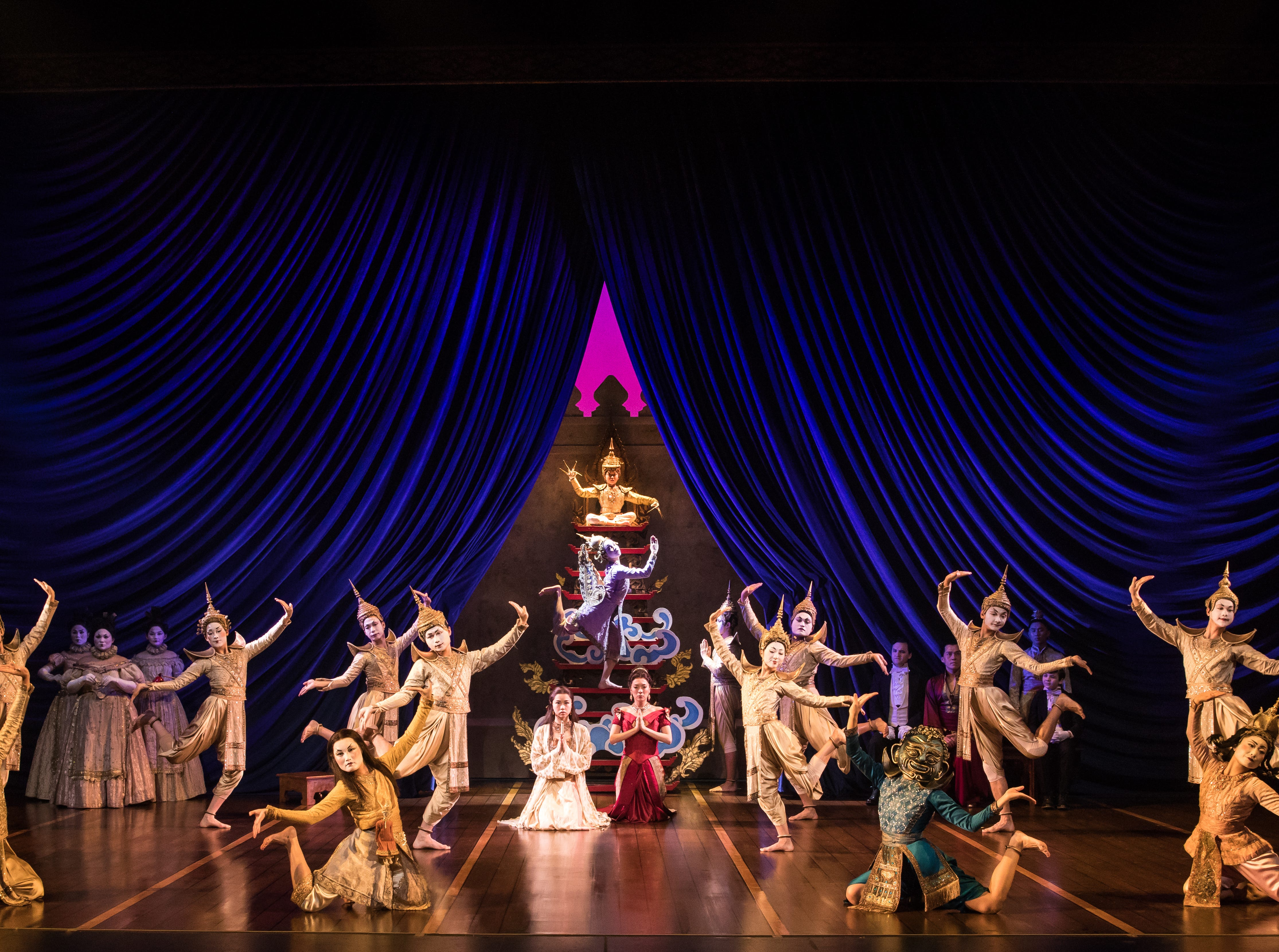 "The company of Rodgers & Hammerstein's 'The King And I,"" coming to Hammons Hall April 2-4."
