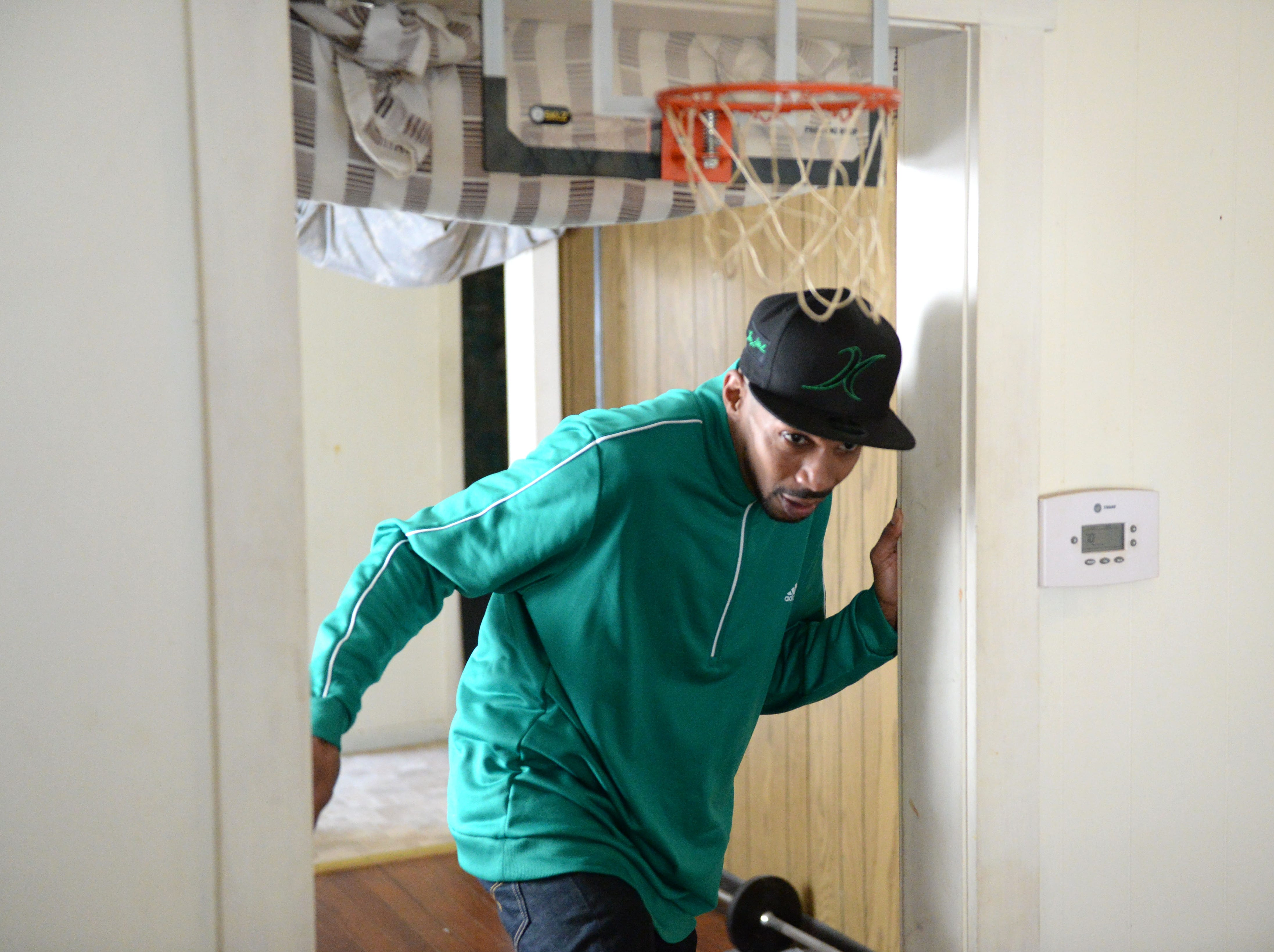 Keith Scott rents a three-room house in Staunton, where he and his two dogs live.
