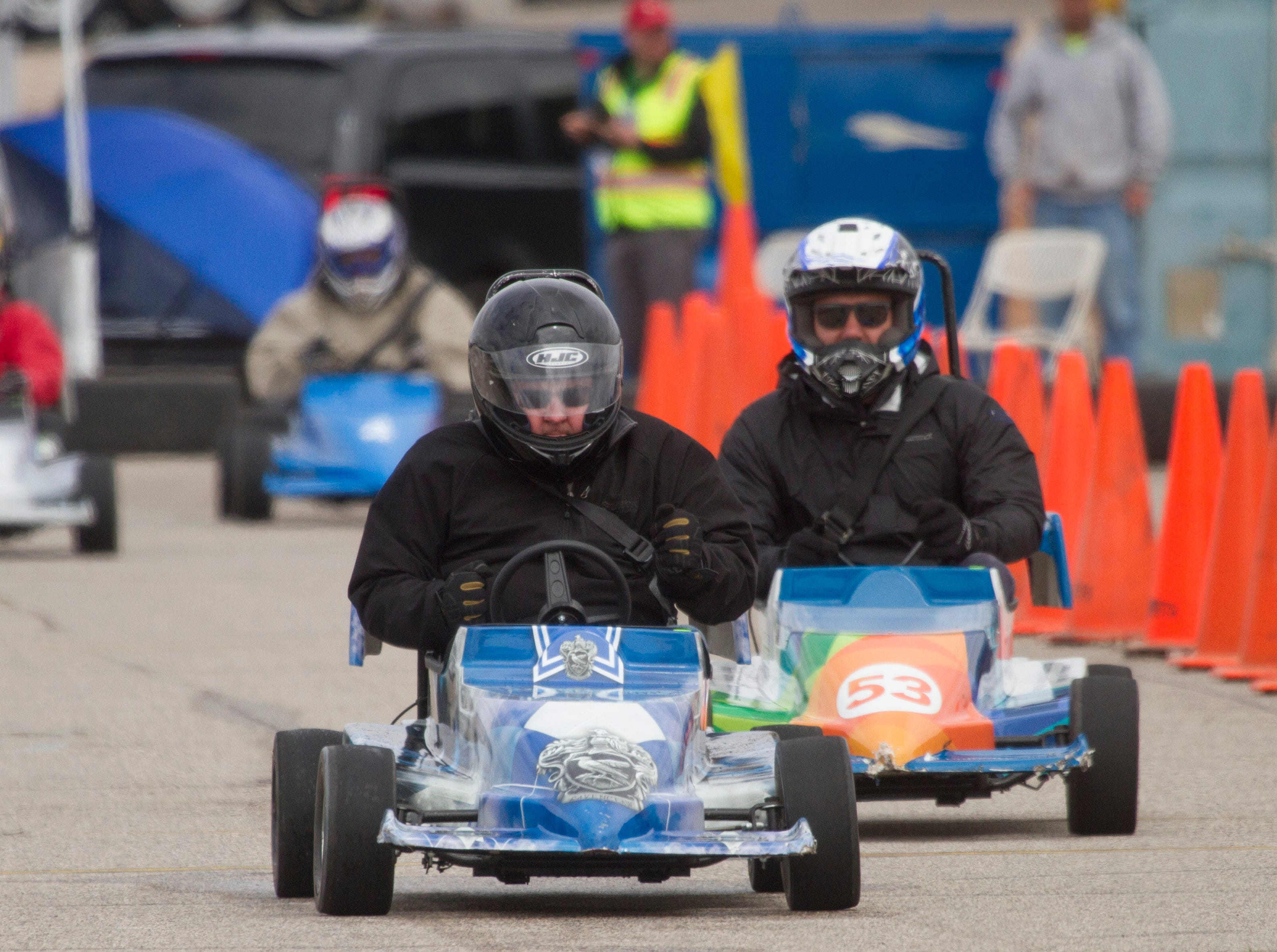 SkyWest business partners from around the world gather at Tech Ridge for the annual Mini Indy Friday, March 22, 2019.