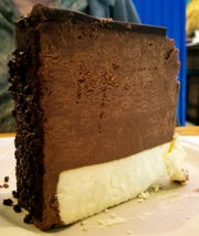 Chocolate Mousse Cheesecake from the dessert case is every bit as good as it looks!