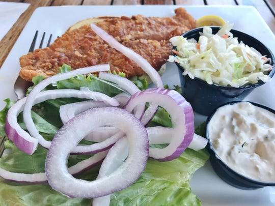 The Crunchy Snapper sandwich was fresh-from-the-sea.