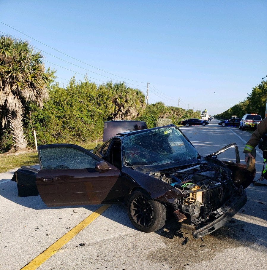 A1A head-on crash sends one to hospital in Martin County with traumatic injuries