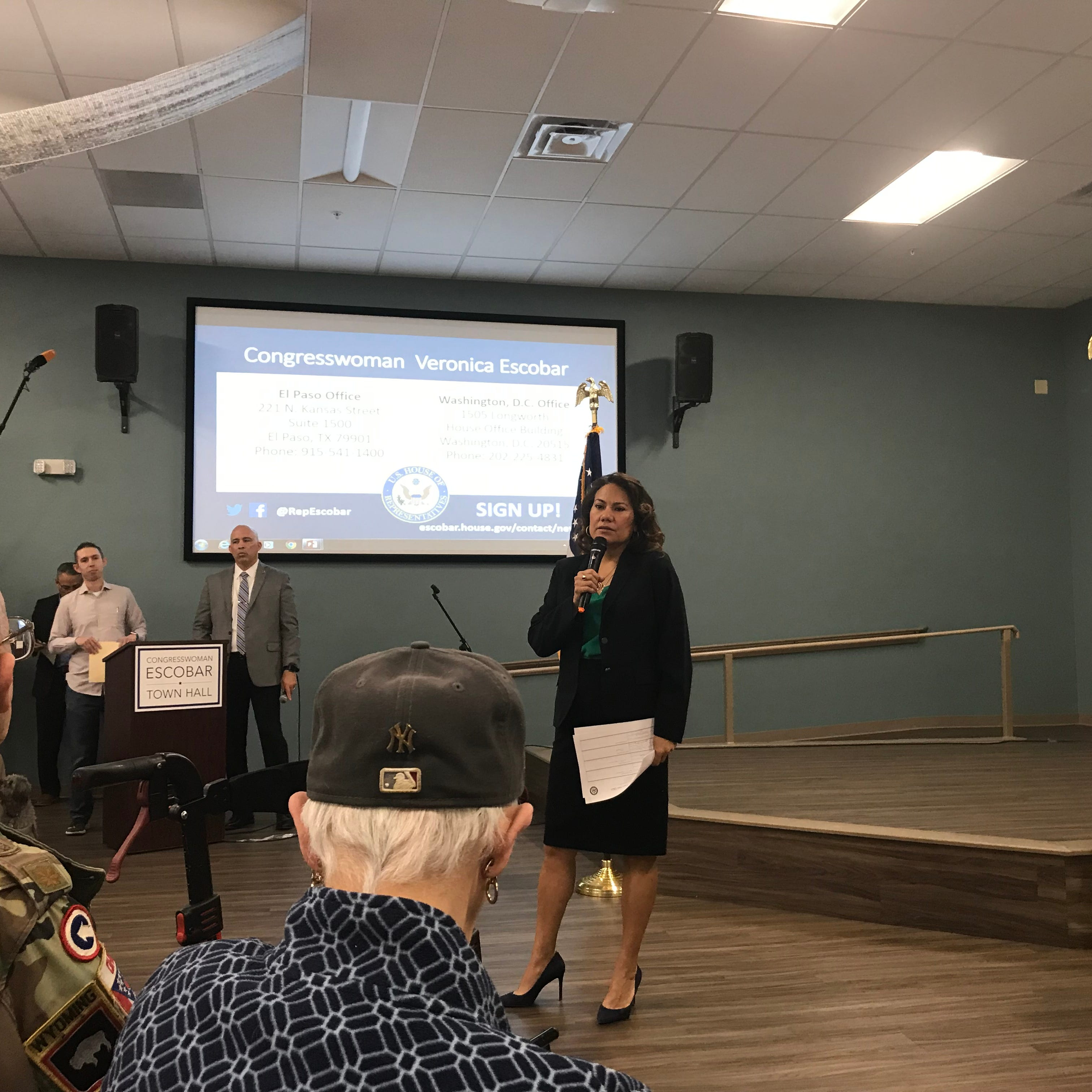 US Rep. Veronica Escobar discusses Heather Wilson, immigration, gun control at town hall