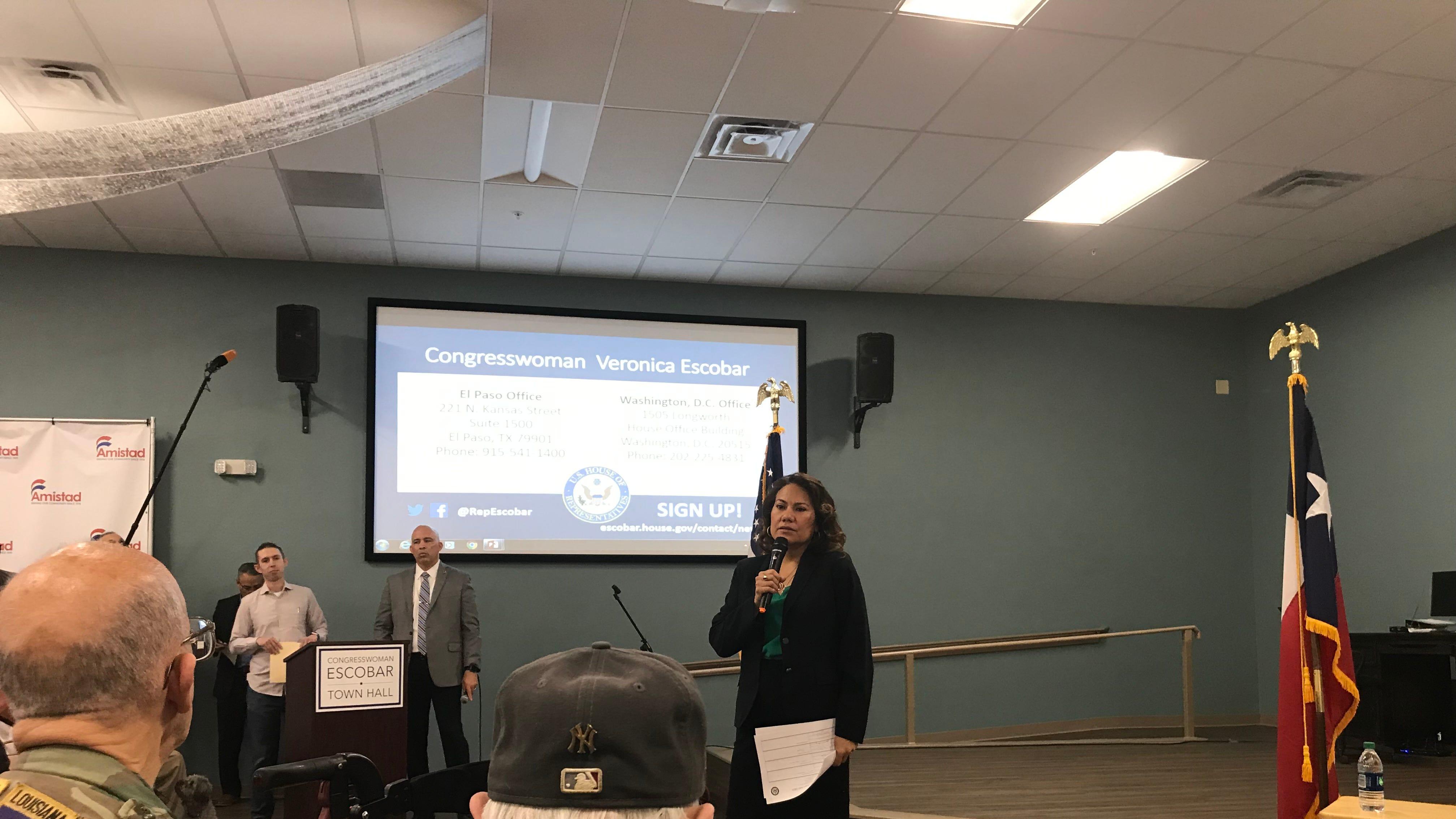 US Rep. Veronica Escobar discusses Heather Wilson, immigration, gun control at town hall