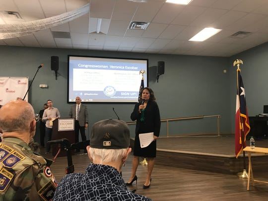 U.S. Rep. Veronica Escobar, D-El Paso, answered questions about immigration, gun control and the finalist for University of Texas at El Paso president at a town hall meeting Saturday, March 23, 2019, at Project Amistad, 3210 Dyer St.