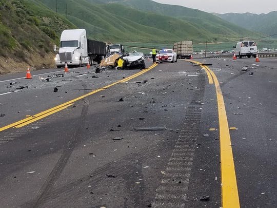 This was the scene of a multi-vehicle crash that left one person dead Saturday morning along Highway 126 near Piru.