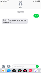 An example of the text-to-911 program launched by Simi Valley police at the beginning of March.