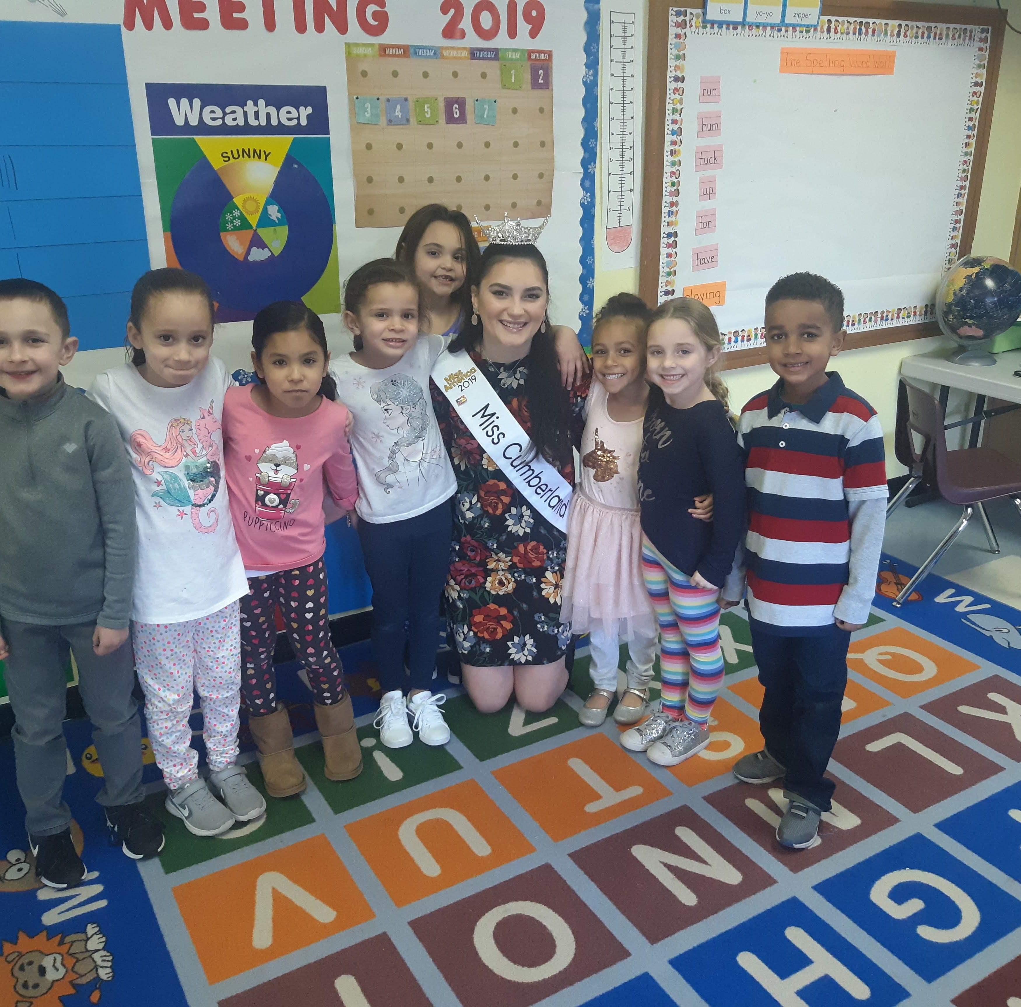 Miss Cumberland County visits Ellison School