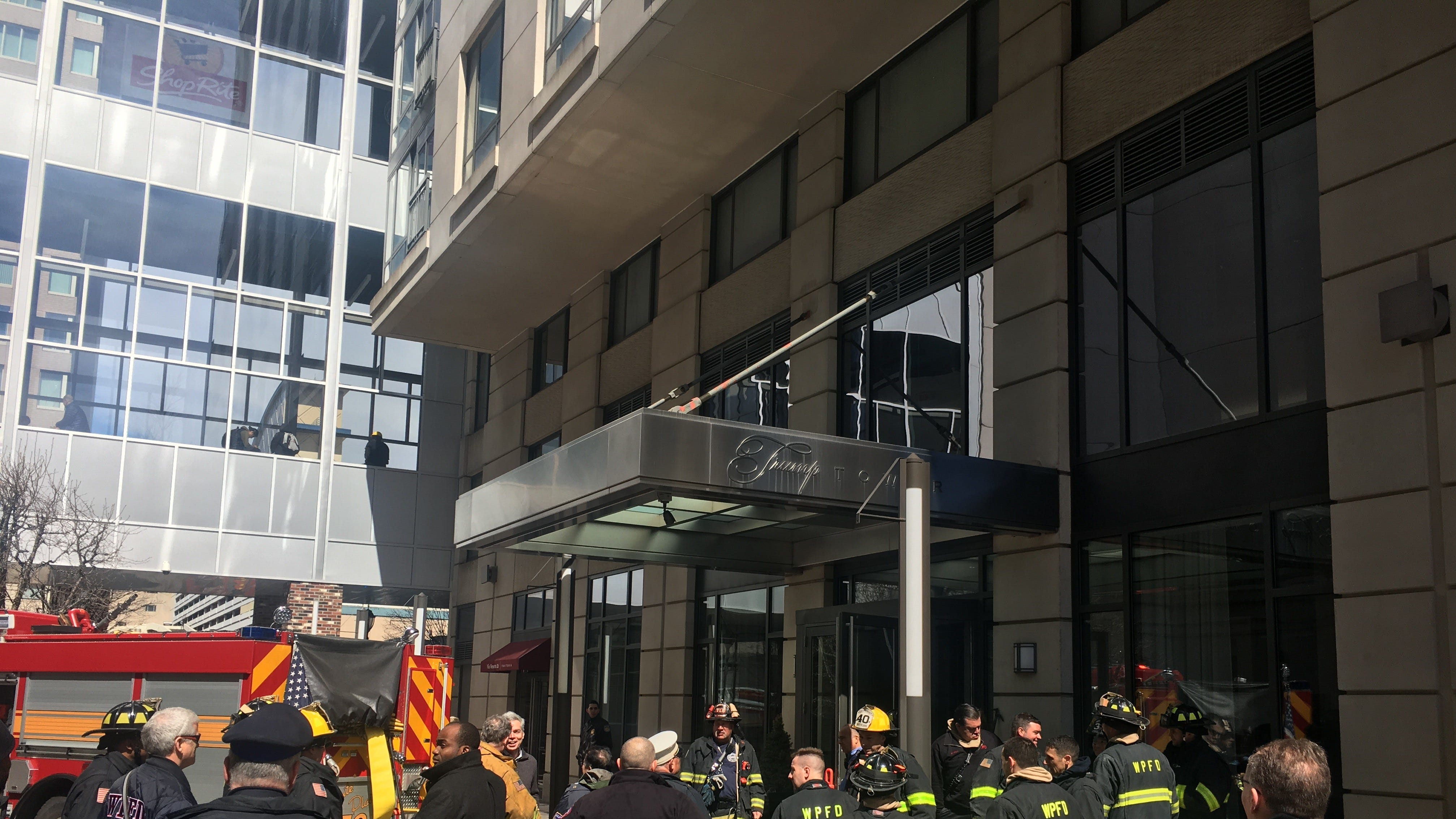 Firefighters put out a fire in ductwork Saturday...