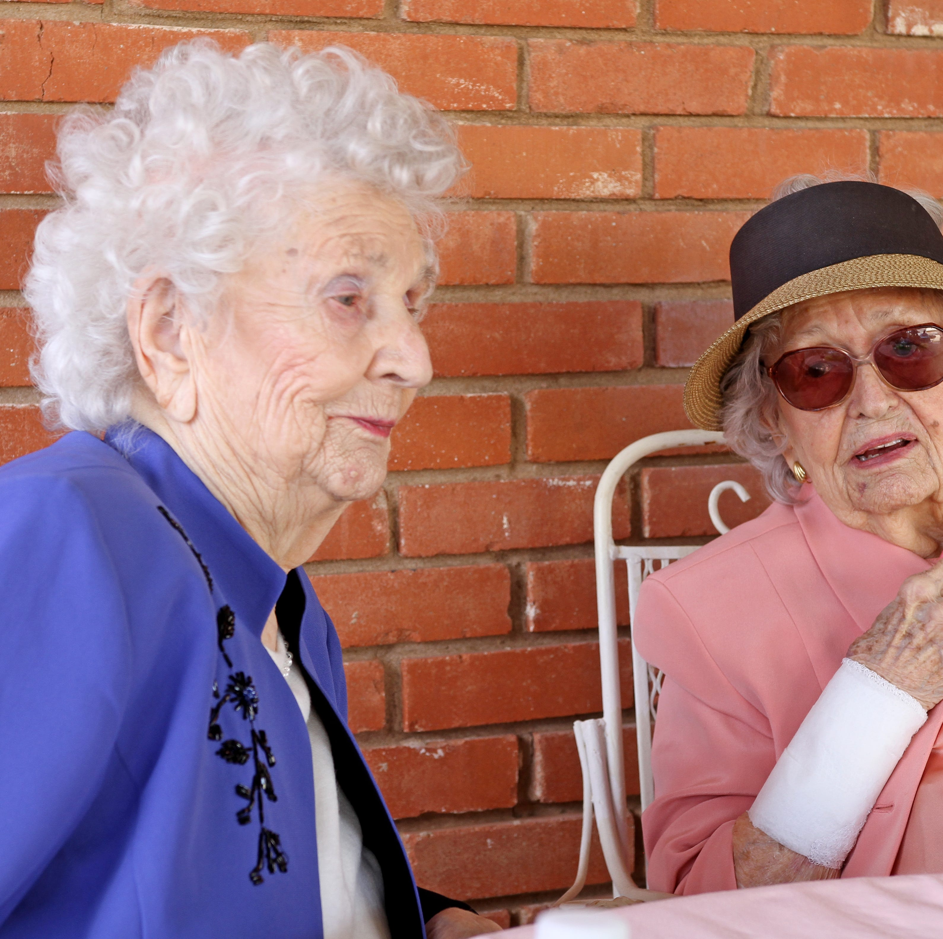 Dorothy Denman and Lu Ellen Agee  celebrate centennial birthdays