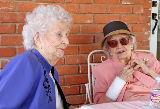 Dorothy Heyduck Denman and Lu Ellen Heyduck Agee had a joint birthday party Saturday, March 23, 2019, in Wichita Falls. Dorothy Denman will be 102 on March 28 and Lu Ellen Agee will be 100 on April 8.
