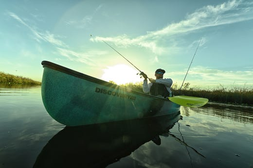 Canoe/kayak hybrid is packed with goodies for hunting and