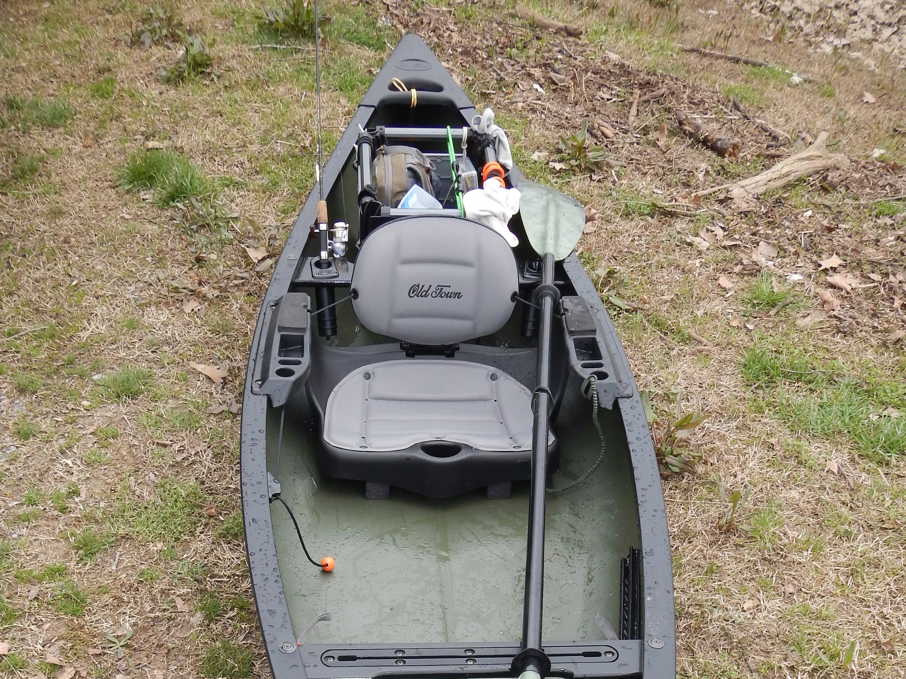 The kayak-style seat is nicely padded for daylong comfort. Easily adjustable foot braces aid with stability and help with back and leg comfort.