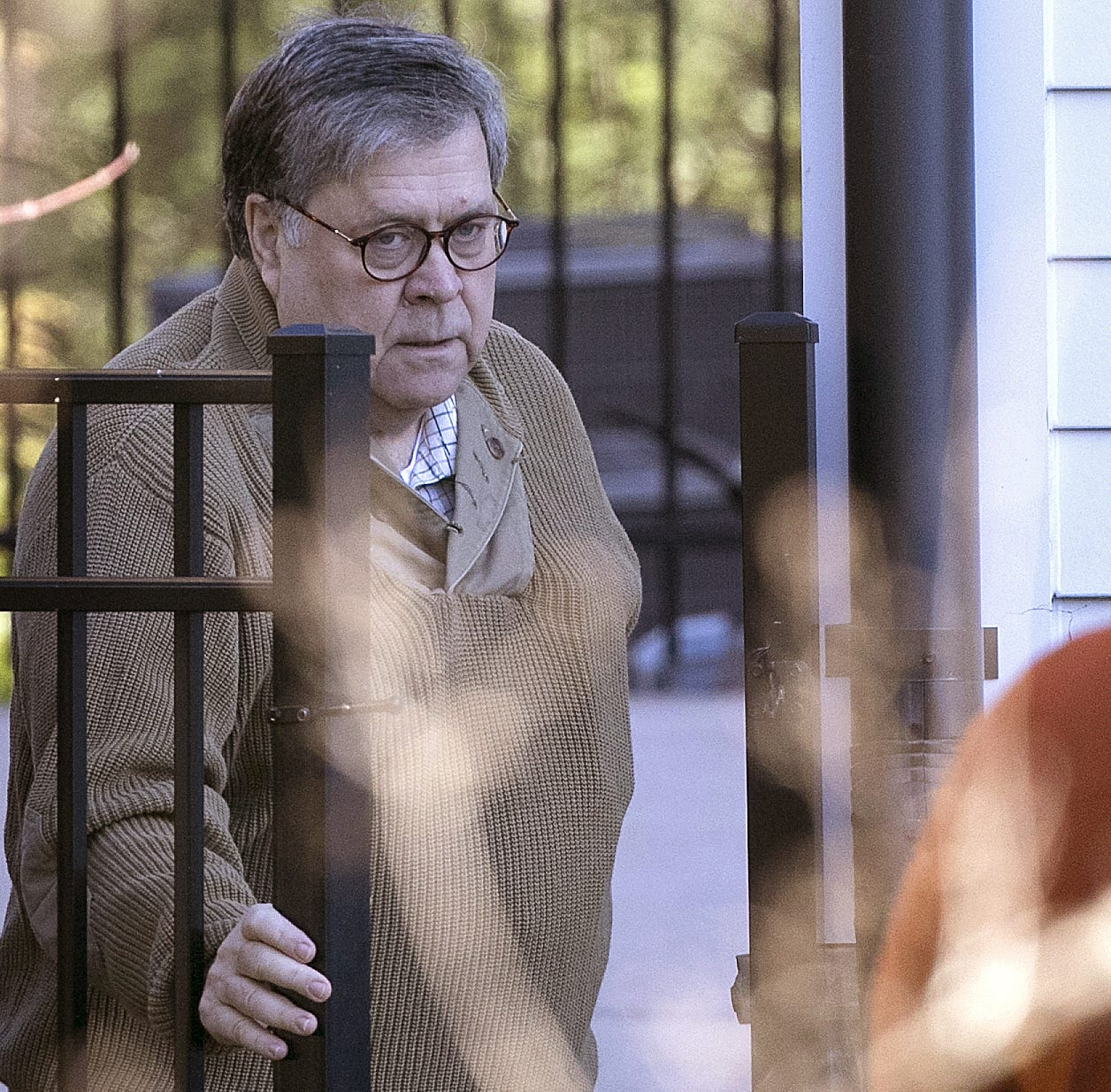 U.S. Attorney General William Barr departs his home March 23, 2019 in McLean, Va.