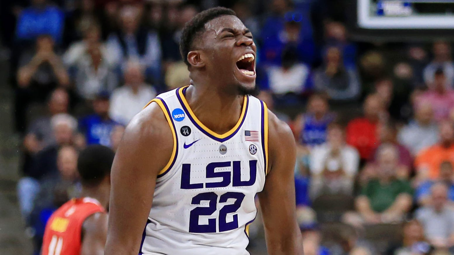 LSU forward Darius Days and the rest of the Tigers are headed to the NCAA Sweet 16 after beating Maryland on Saturday.