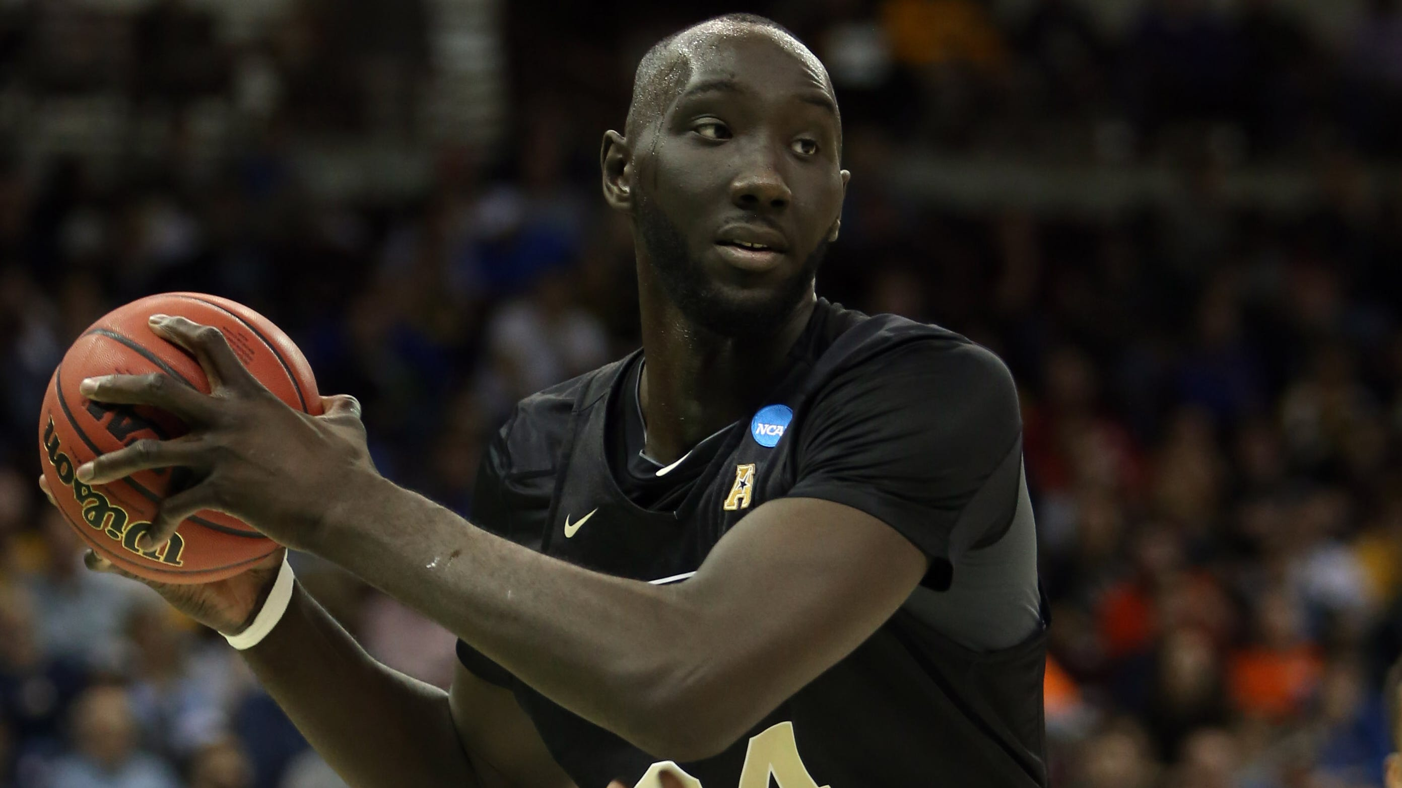 Central Florida center Tacko Fall and Duke's Zion Williamson could be headed for a monumental moment in the NCAA tournament Sunday.