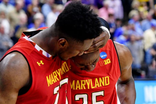 Round of 32: No. 6 Maryland loses to No. 3 LSU, 69-67.