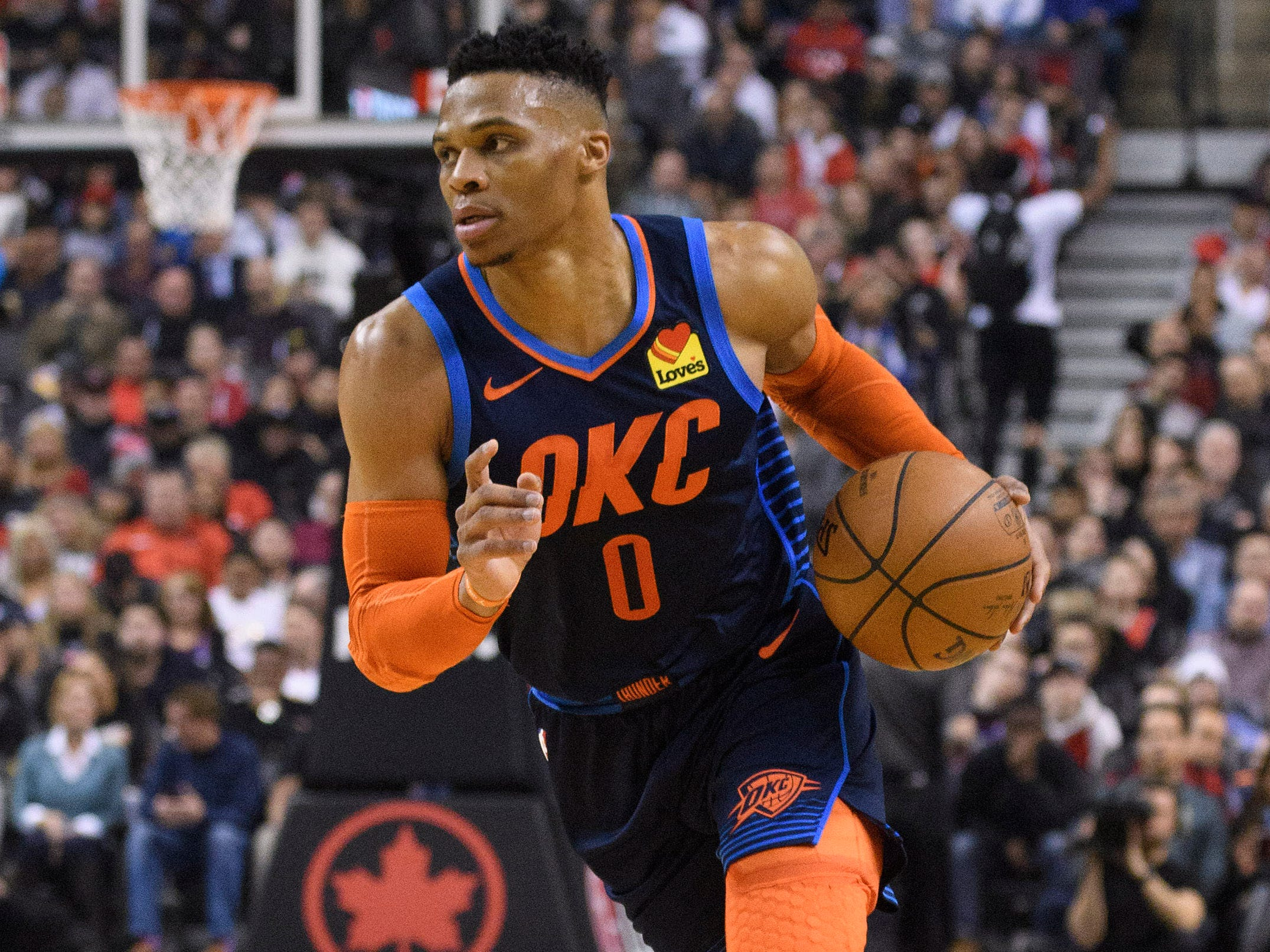 106. Russell Westbrook, Thunder (March 22): 18 points, 13 assist, 12 rebounds in 116-109 win over Raptors (28th of season).