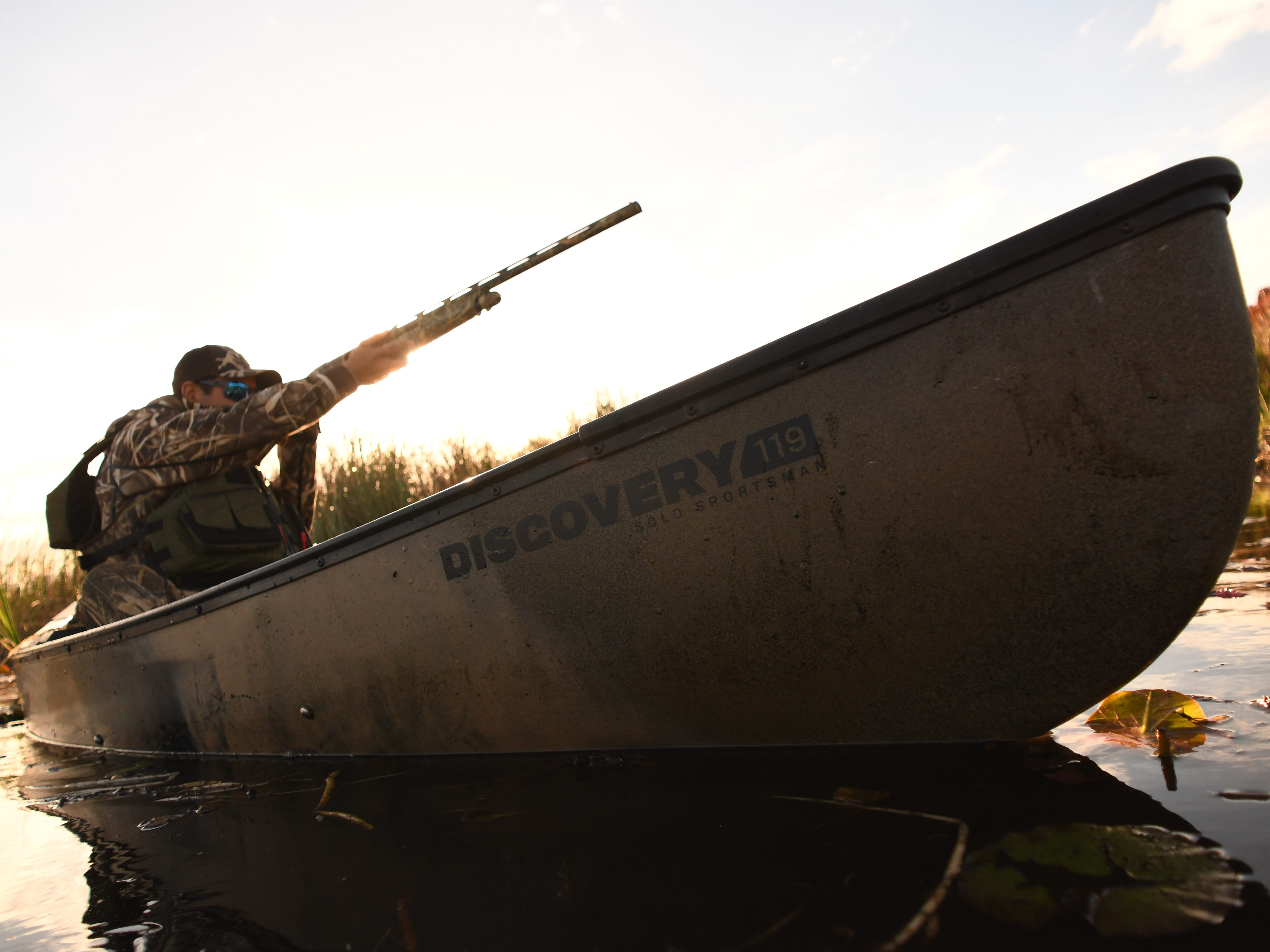 At 11 feet, 7 inches long with a 32 1/2-inch beam, the Solo Sportsman is stable enough to provide an excellent casting and shooting platform while proving easy to paddle.