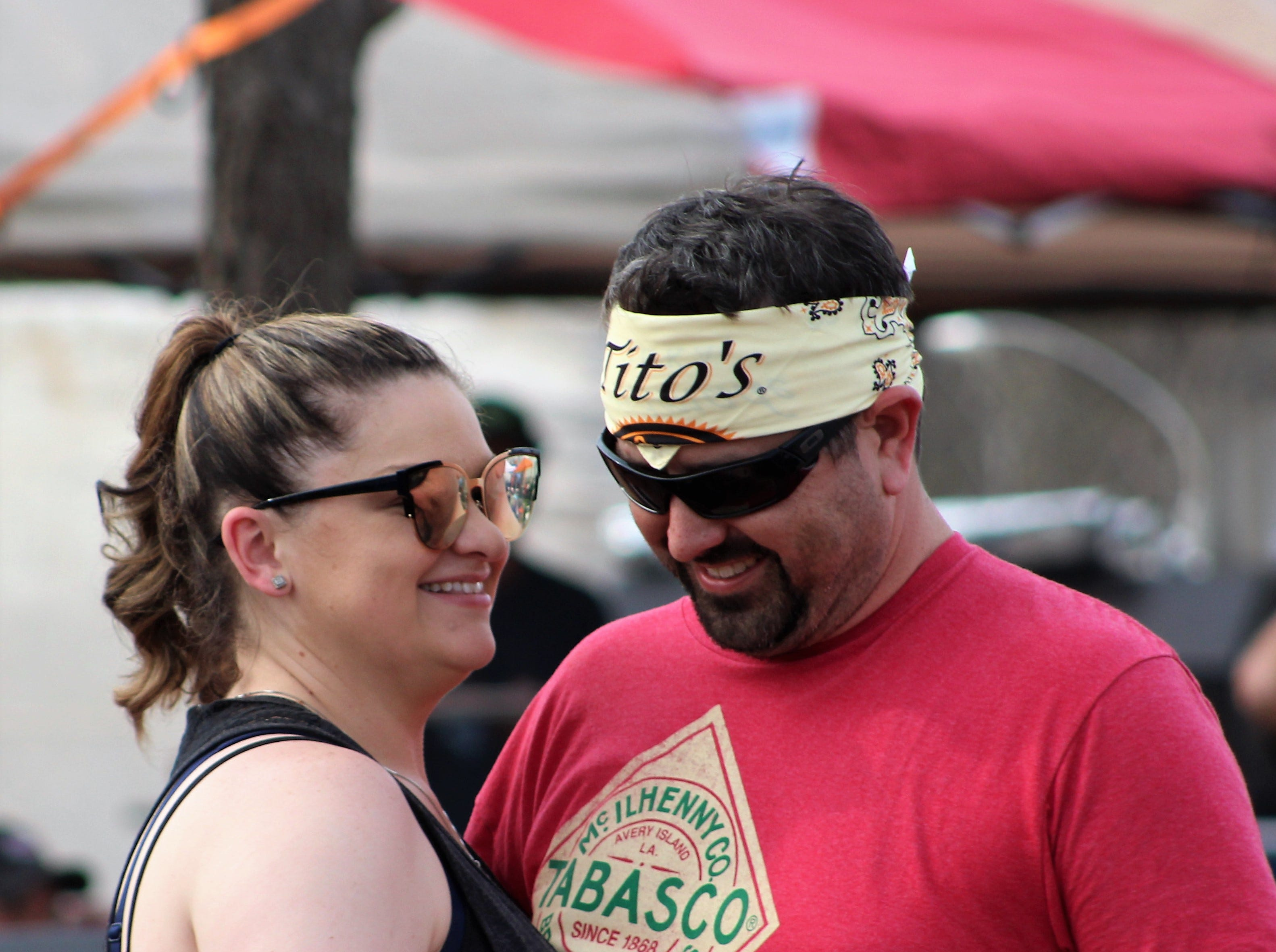 John Scott two-steps with his wife, Kendra, Saturday afternoon March 23, 2019, at the 9th Outlaws & Legends Music Festival.