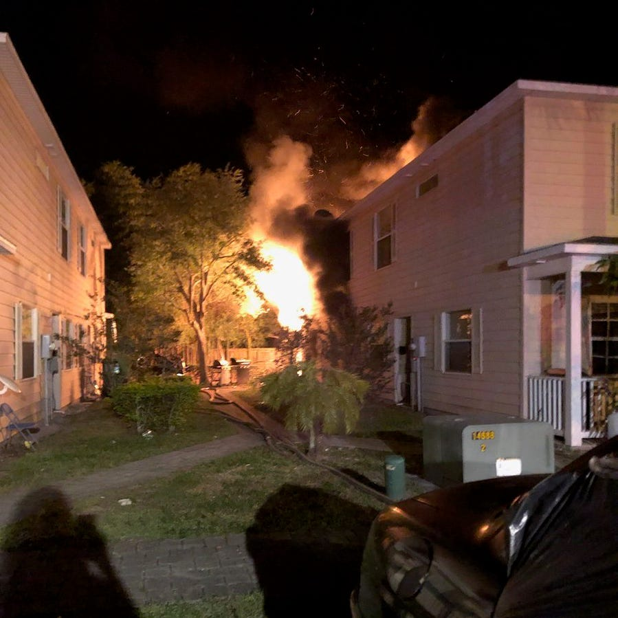 Firefighters quell flames at Titusville townhome complex