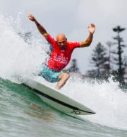 Kelly Slater opening up the 2019 season at Manly Beach, Australia, in preparation for the World Championship Tour.
