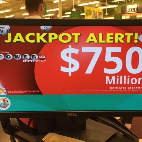 No one wins Saturday Powerball. Jackpot now fourth-largest in history at $750M