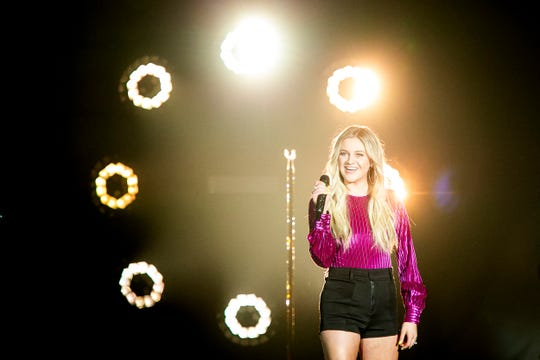 "Kelsea Ballerini performs Saturday, March 23, 2019 as part of Kelly Clarkson's ""Meaning of Life"" tour at US Bank Arena in Cincinnati."