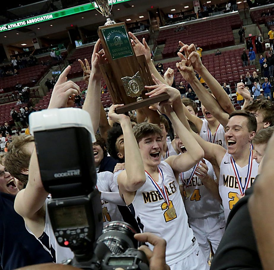Back to Back: Moeller boys basketball repeats as Division I high school state champions
