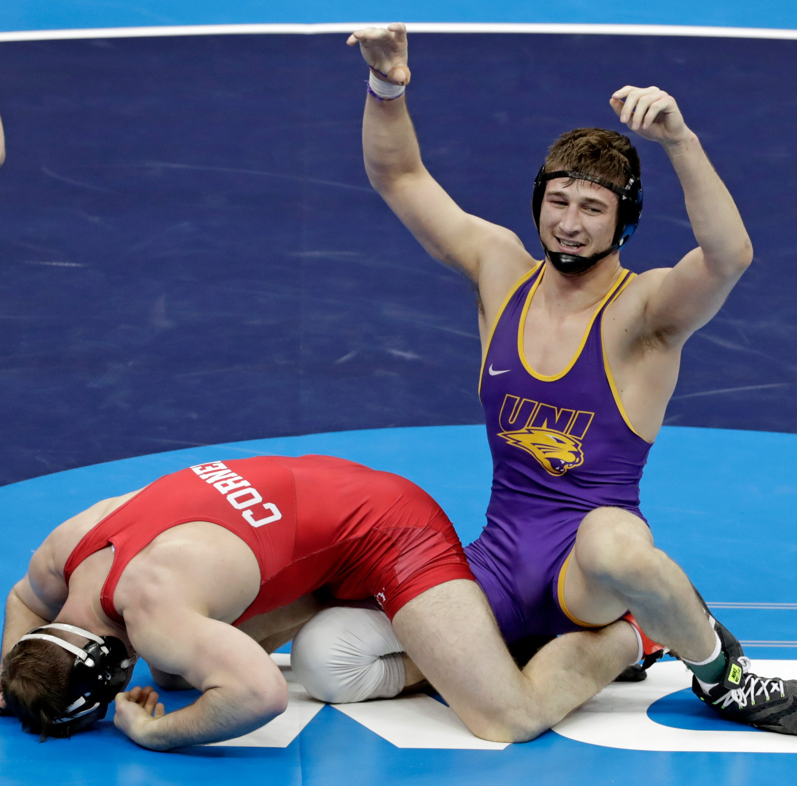 NCAA Wrestling: Northern Iowa's Drew Foster wins national championship