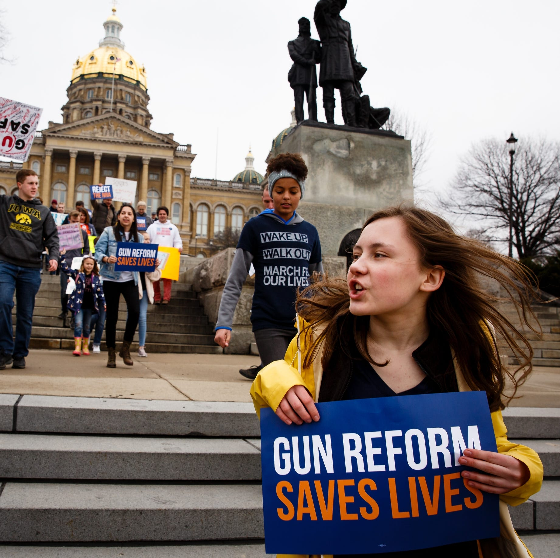 'We are your future, but your future is being traumatized': Des Moines students urge gun reform during March for Our Lives