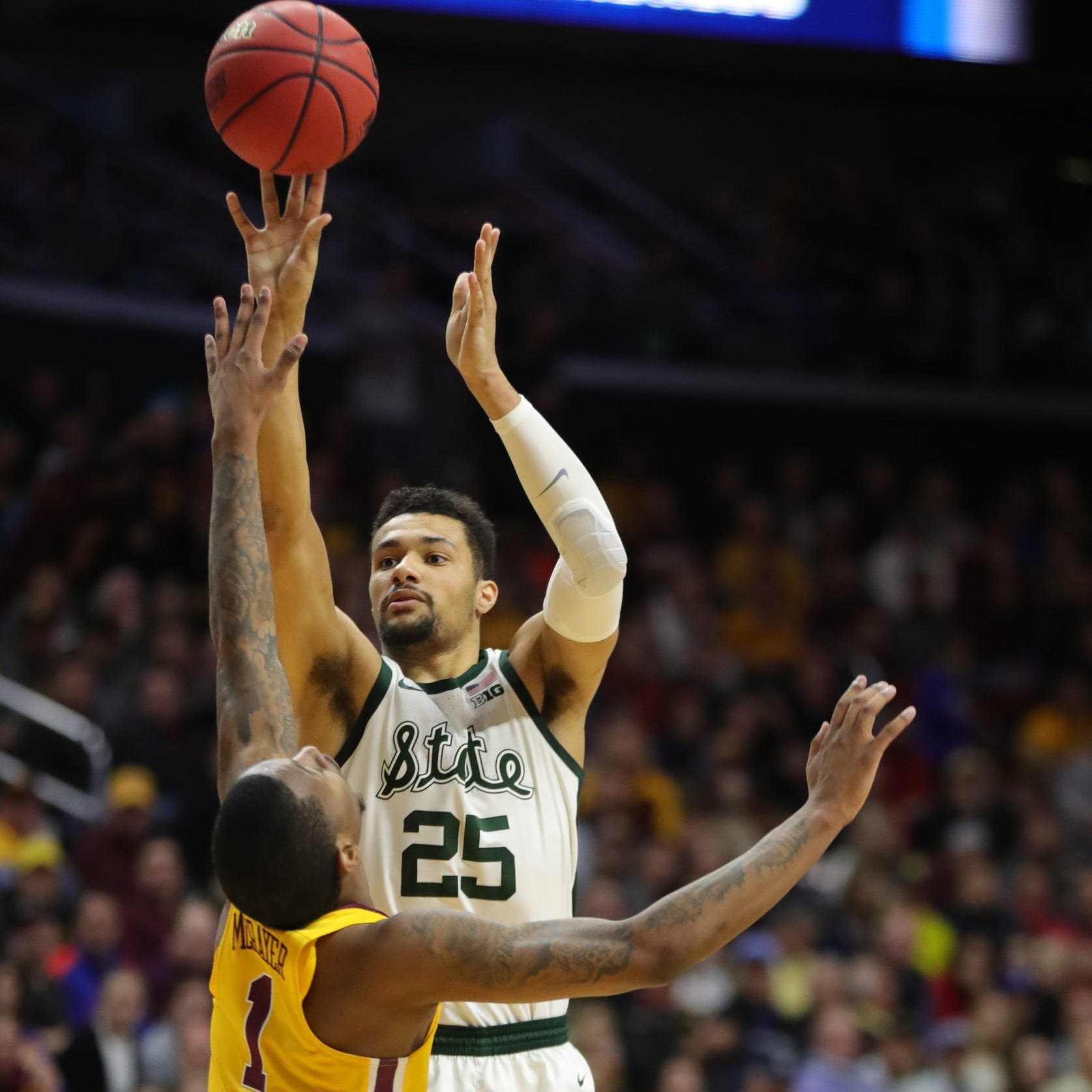 Michigan State's Kenny Goins 'never lost confidence' during shooting slump