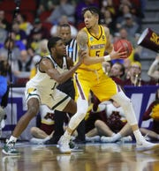 Aaron Henry, left, will need to keep LSU's guards from crashing the boards for offensive rebounds.