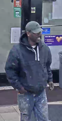 A male suspect, along with a female suspect, are responsible for stealing a dog from a Detroit gas station March 17.
