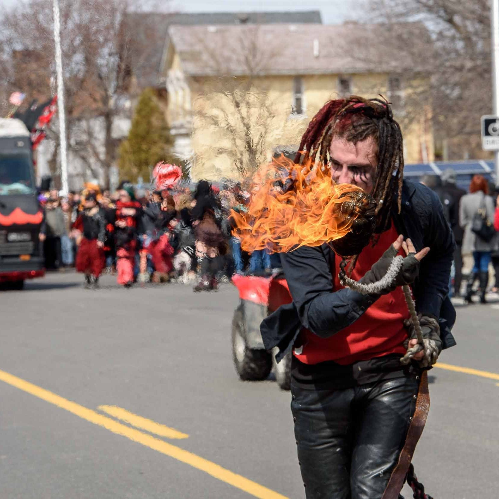 Merrymakers chase away the Nain Rouge at annual Mardi Gras-like event