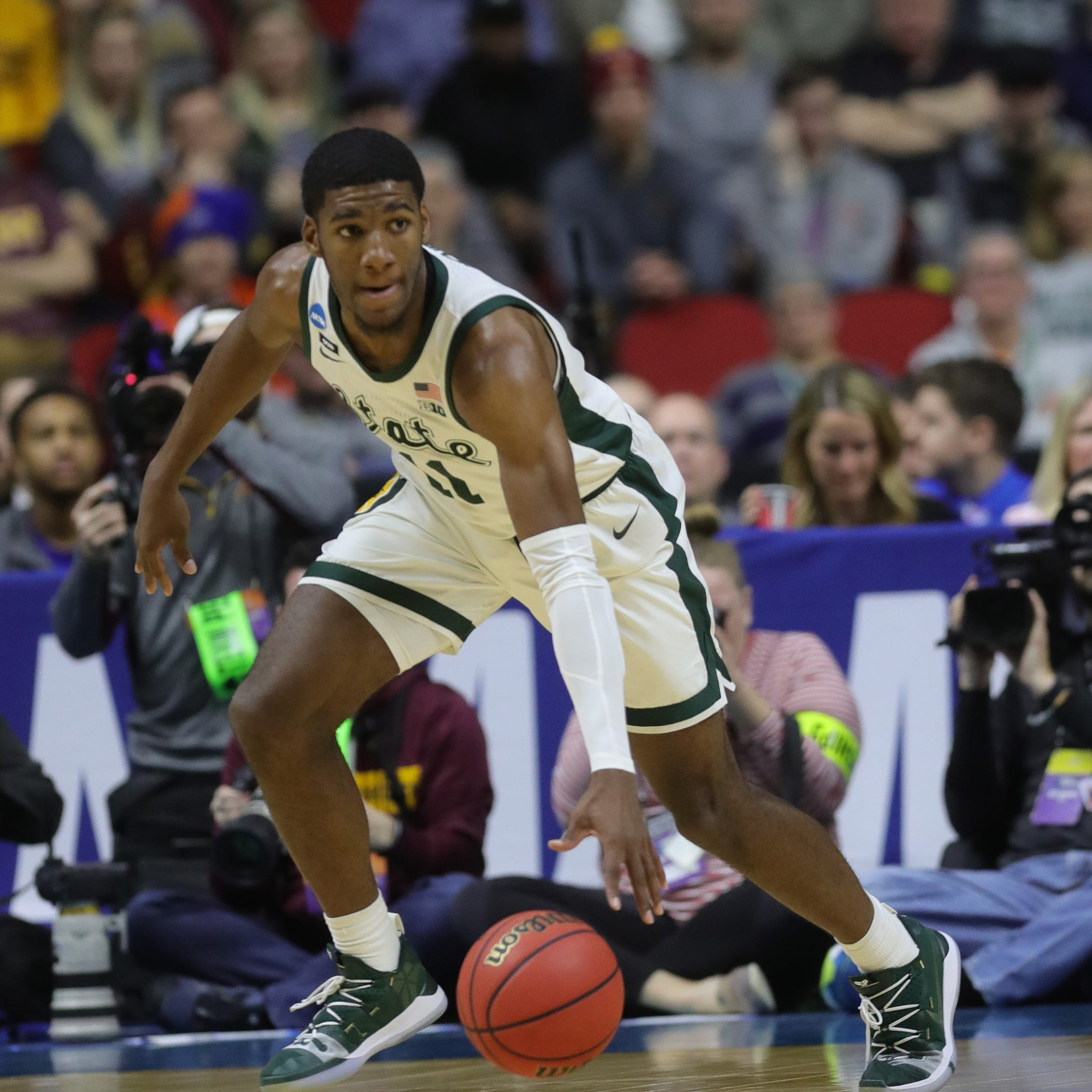 Michigan State basketball's Aaron Henry undeterred after berating