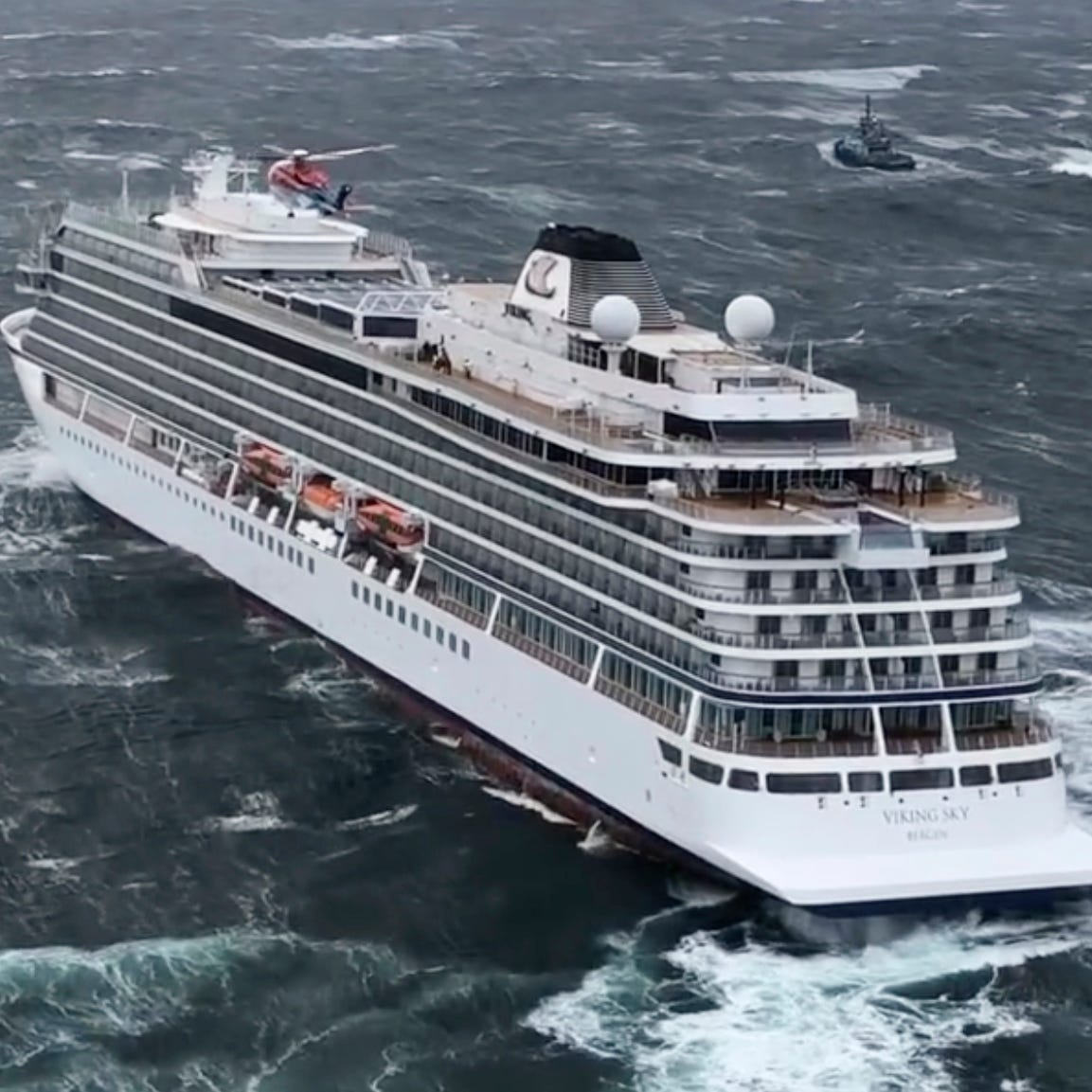 Cruise ship reaches Norway port after punishing storm, harrowing rescues