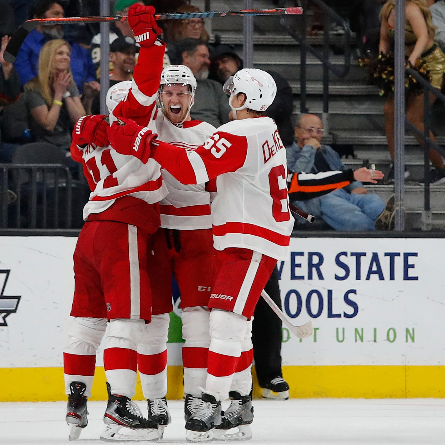 Red Wings rally for impressive overtime win in Vegas