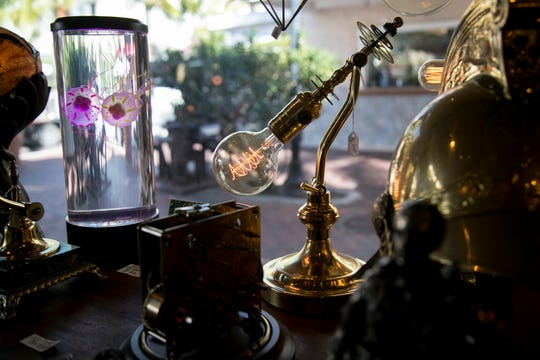 Timeless, a shop in downtown Fort Myers, has lamps made by Steve Timcak and gift and artwork made by other local artists.