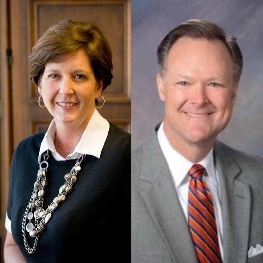 Catriona Carlisle is executive director of Meals on Wheels of Greenville and David Sudduth is the board chairman of Meals on Wheels of Greenville.
