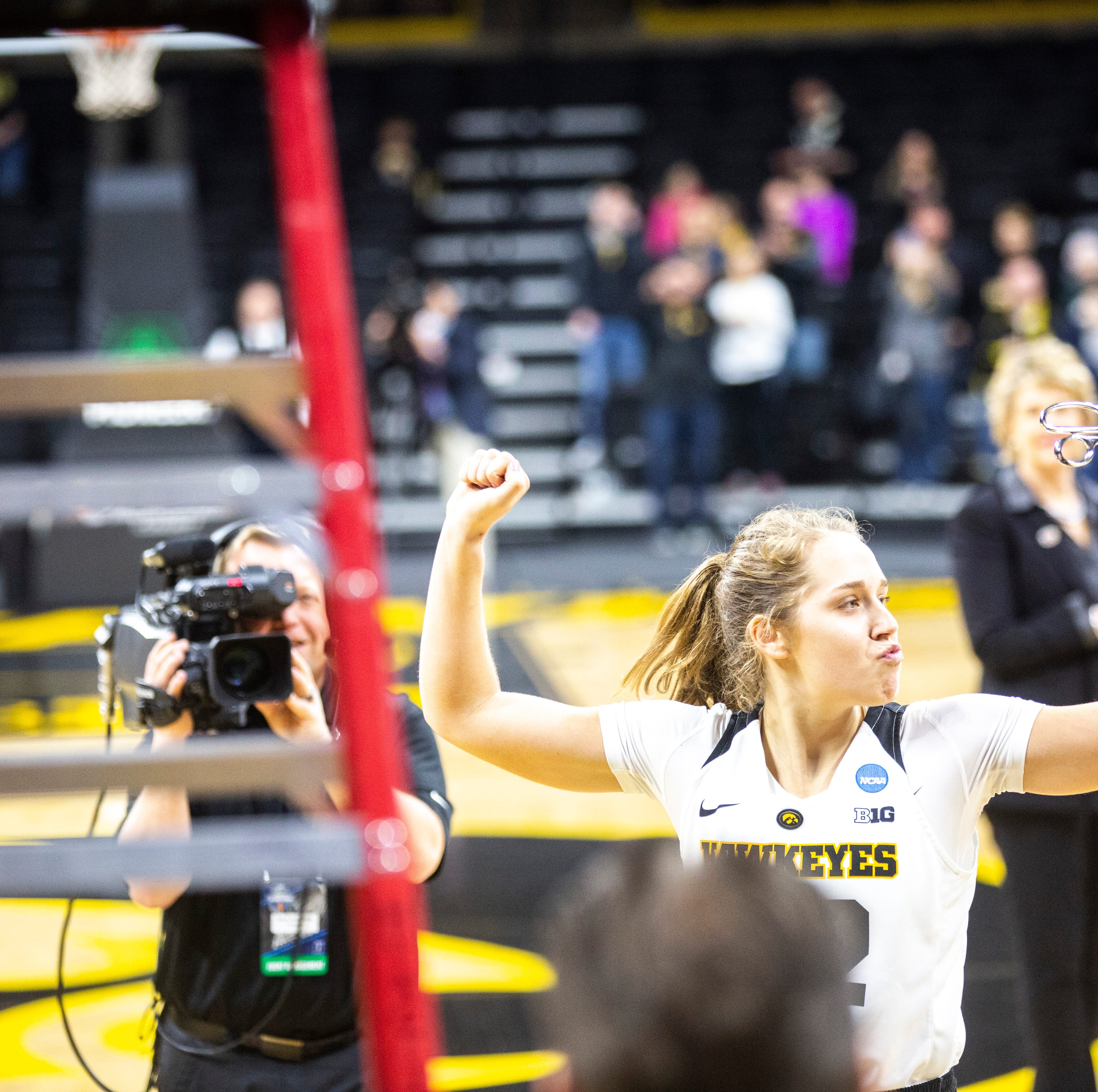 Emotions on the sleeve: 'Fiery' Kathleen Doyle brings the noise when Iowa needs it