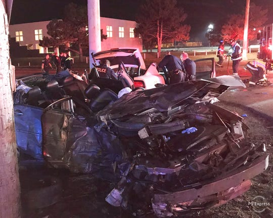 An IMPD officer and a possible drunken driver were seriously hurt in an early Sunday crash.