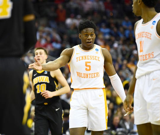 Tennessee guard Admiral Schofield could be one of the many players considered by the Utah Jazz with the No. 23 pick in this year's NBA Draft.