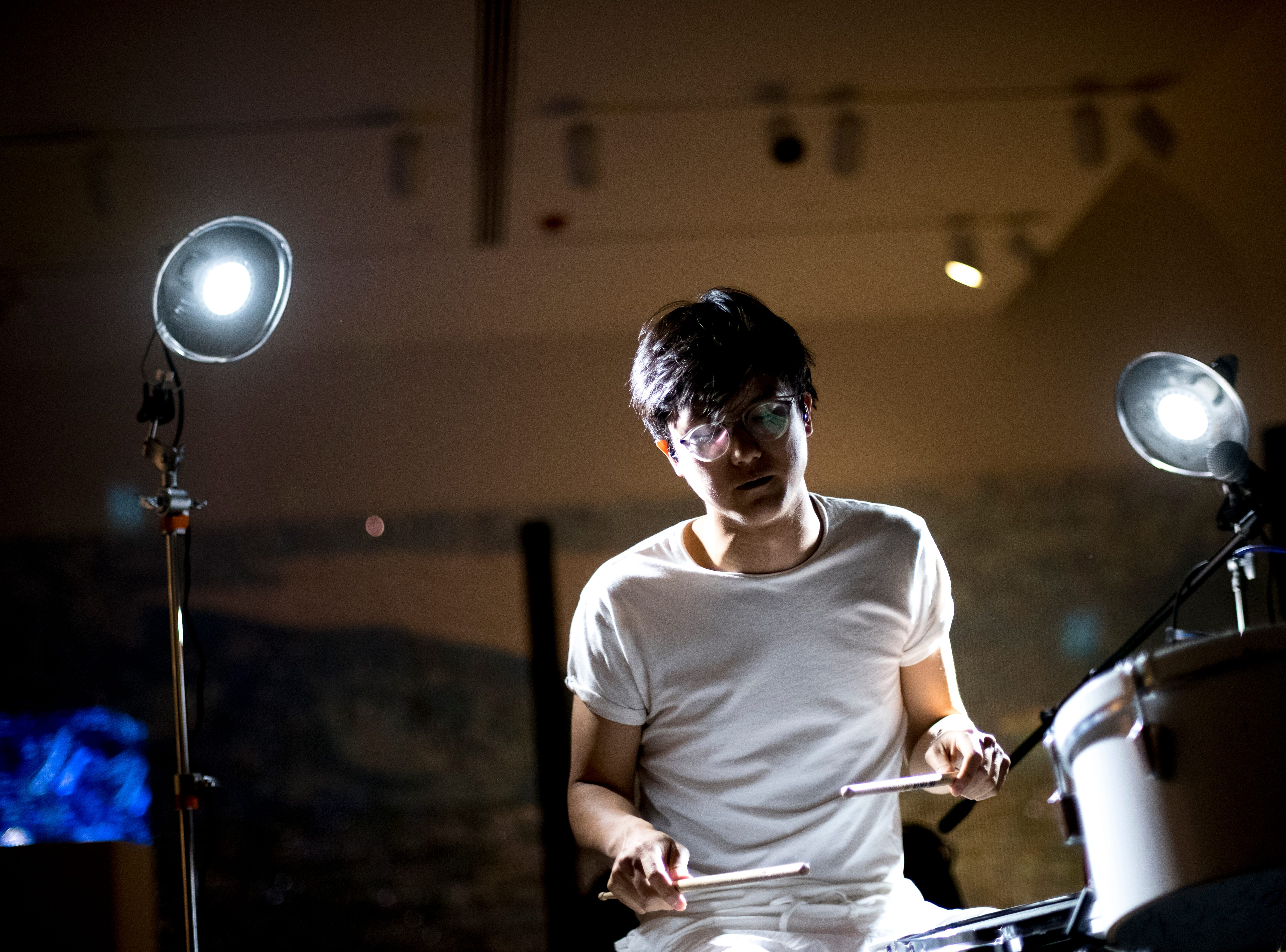 Ian Chang performs at the Knoxville Museum of Art at Big Ears Festival 2019 in Knoxville, Tennessee on Saturday, March 23, 2019.