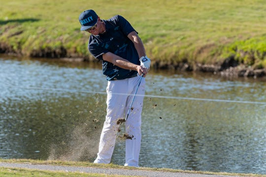 Vince Covello during the third round of The Web.com Tour in Lafayette for the 2019 Chitimacha Louisiana Open at Le Triomphe. Saturday, March 23, 2019.