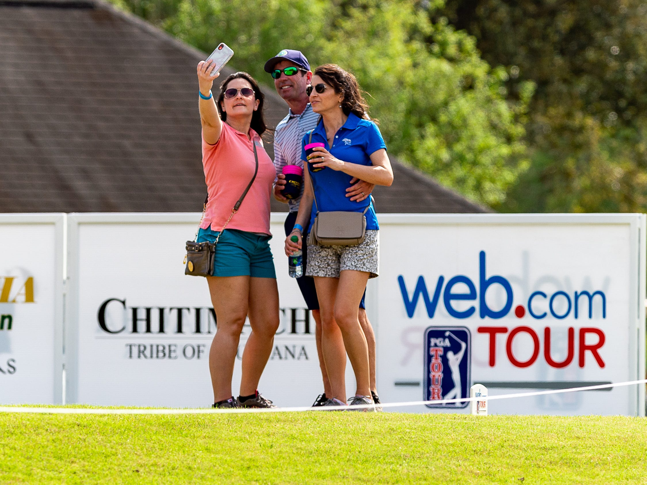 spectators taking time for a selfie during the third round of The Web.com Tour in Lafayette for the 2019 Chitimacha Louisiana Open at Le Triomphe. Saturday, March 23, 2019.