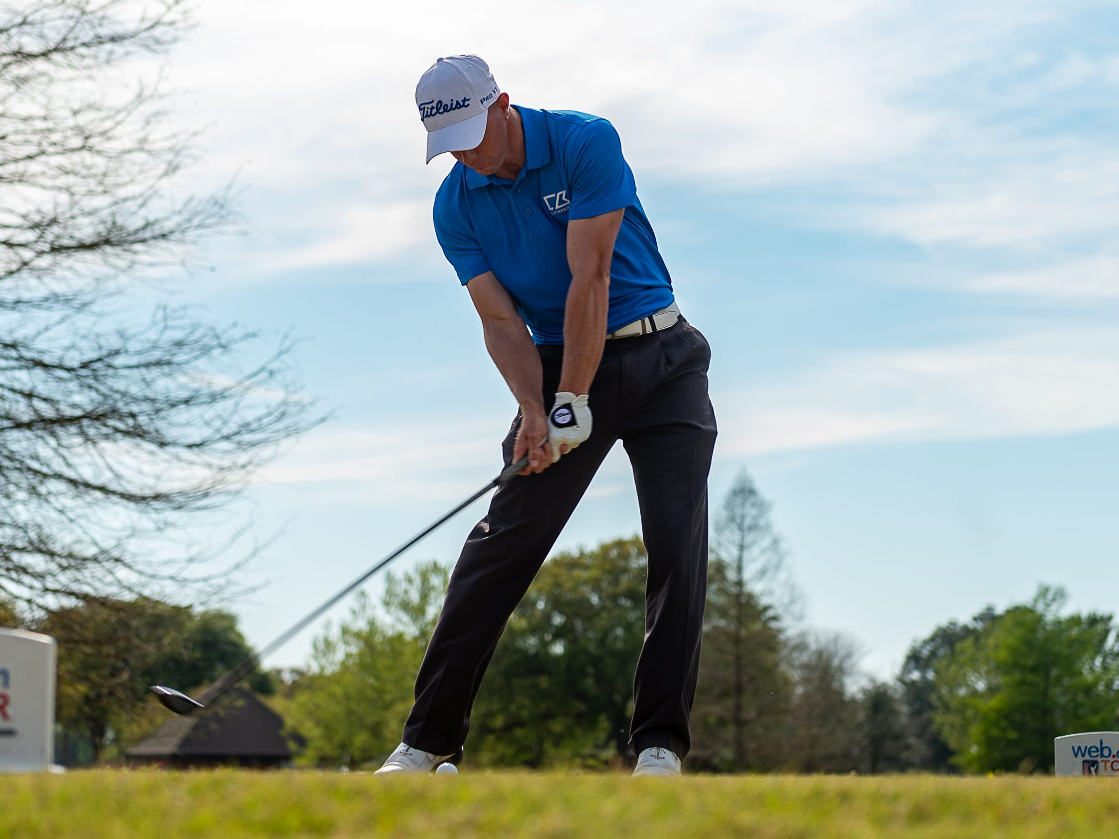 during the third round of The Web.com Tour in Lafayette for the 2019 Chitimacha Louisiana Open at Le Triomphe. Saturday, March 23, 2019.